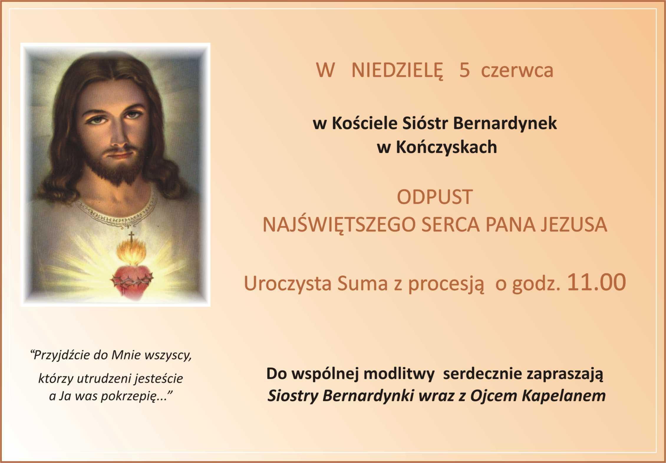 Odpust Najświętszego Serca Jezusa… Zaproszenie