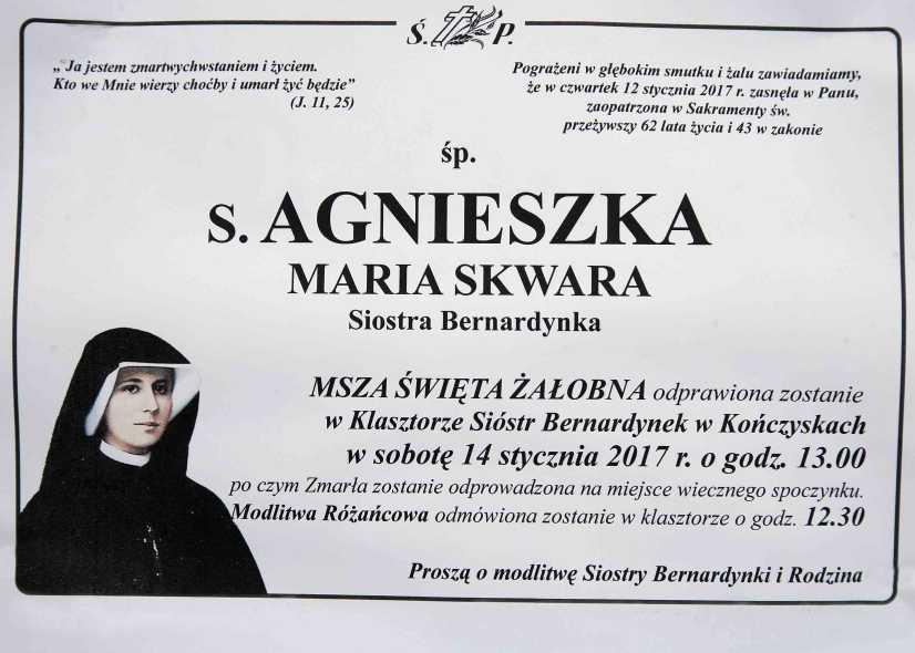 Ostatnie pożegnanie S.Agnieszki