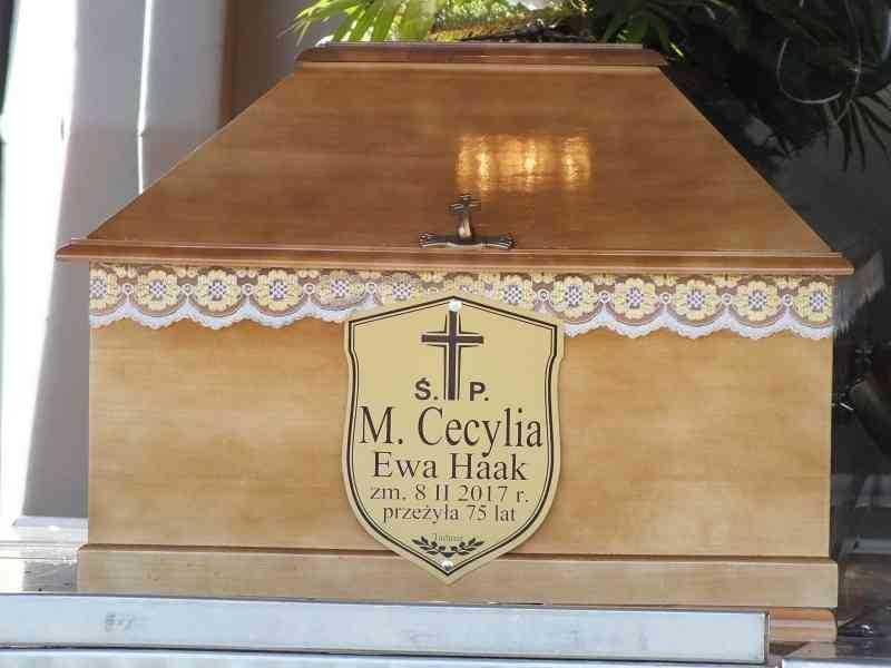 Uroczystości pogrzebowe M. Cecylii
