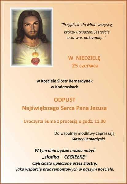 Odpust u Sióstr Bernardynek… Zaproszenie